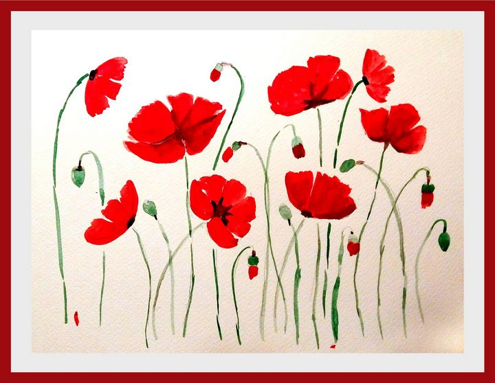 Red poppies - Lucy's Gallery