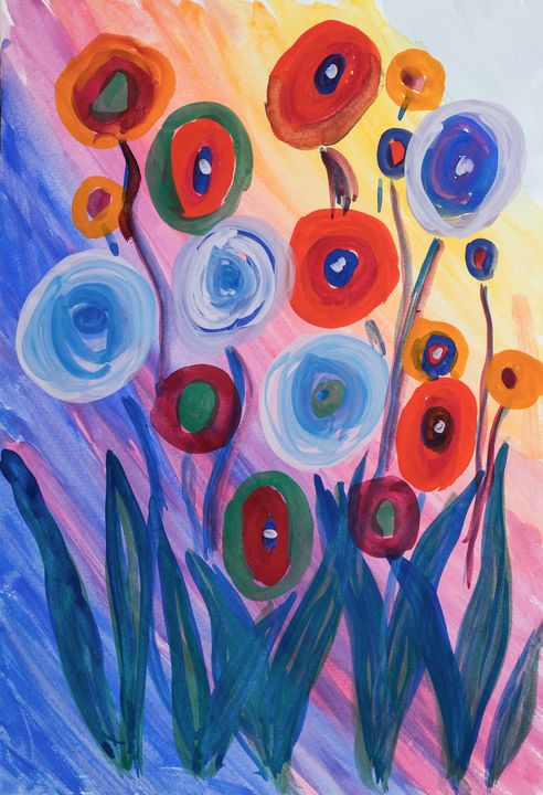 abstract flowers - Lucy's Gallery