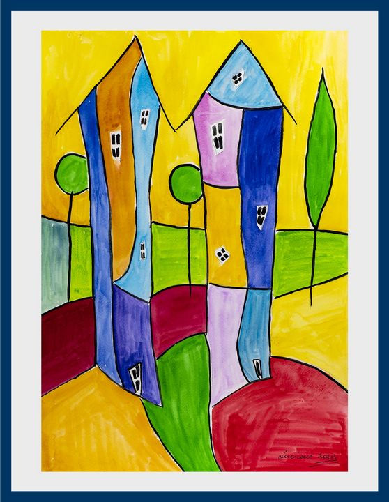 houses on the hill - Lucy's Gallery