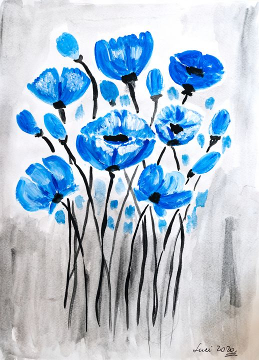blue poppies - Lucy's Gallery