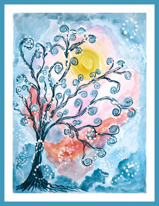 Fairy tree under the moon - Lucy's Gallery