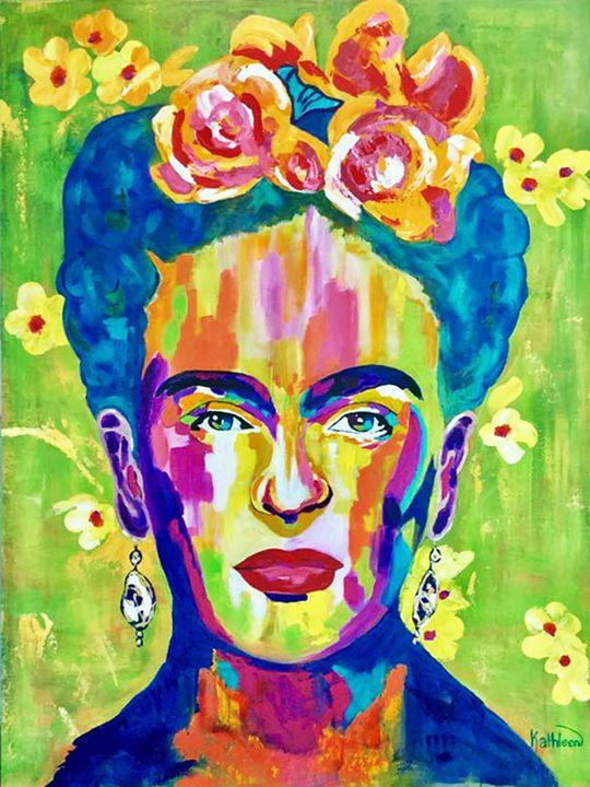 Frida Kahlo «Flowers» - Kathleen Artist PRO
