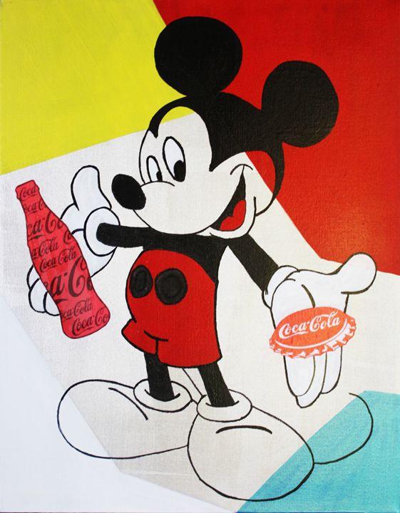 MICKEY MOUSE « Coca-Cola » - Kathleen Artist PRO