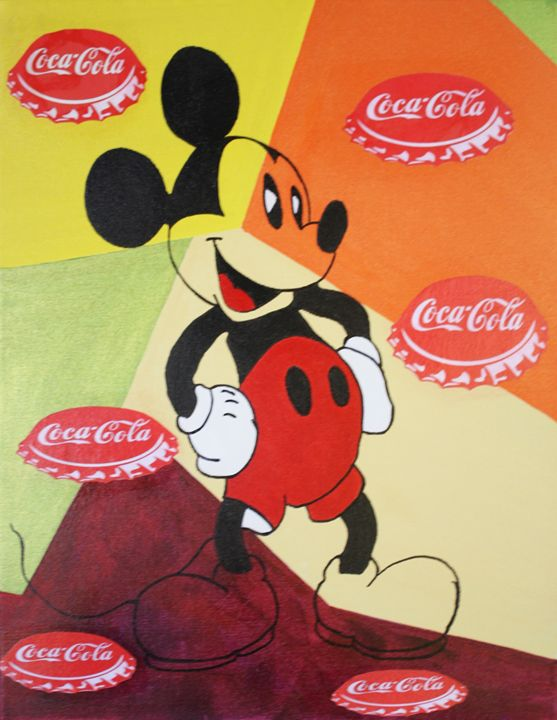 MICKEY MOUSE « Capsules Coca-Cola » - Kathleen Artist PRO