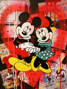 Mickey and Minnie Mouse «Pink Heart» - Kathleen Artist PRO