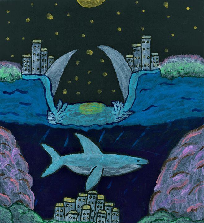 Sunken city in Shark water - Karl art