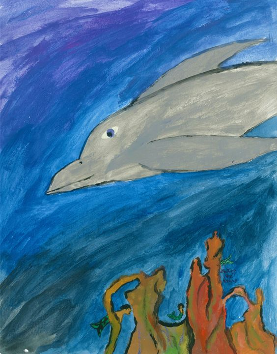 Happy dolphin - Karl art
