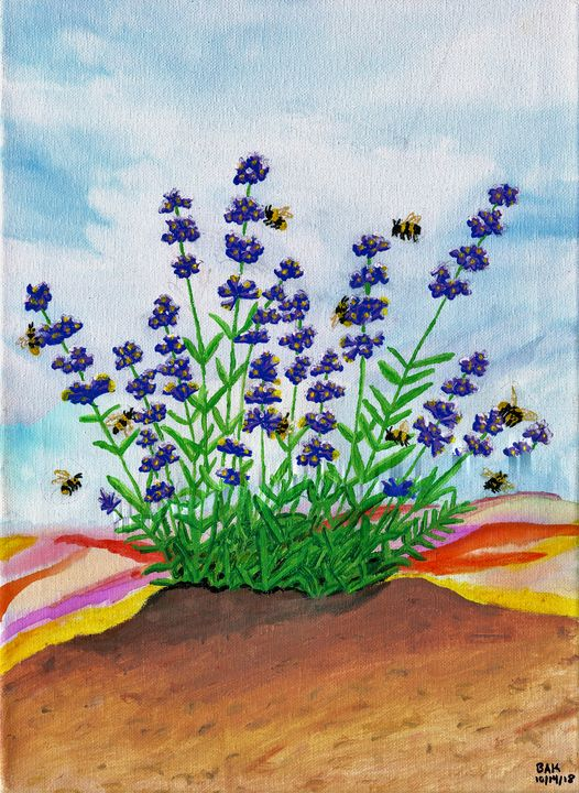 Bees and lavender - Karl art