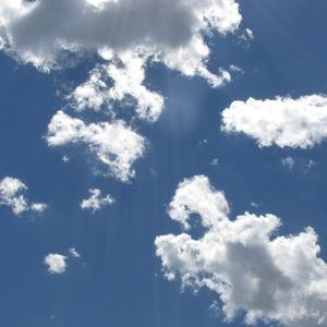 Sunny day clouds