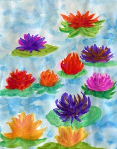 Flowers on water lilies