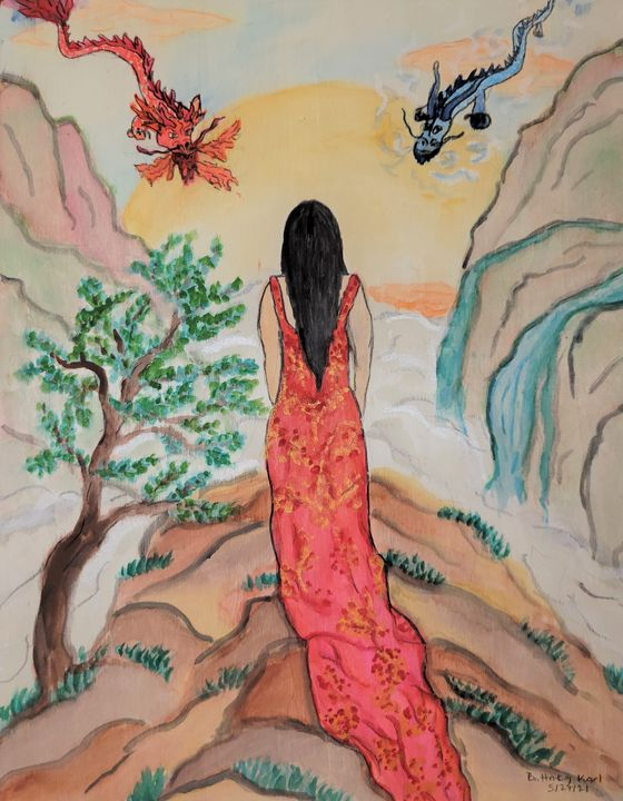 Wandering Woman and Four Elements - Karl art