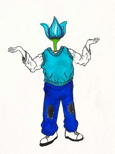 blue flower boy