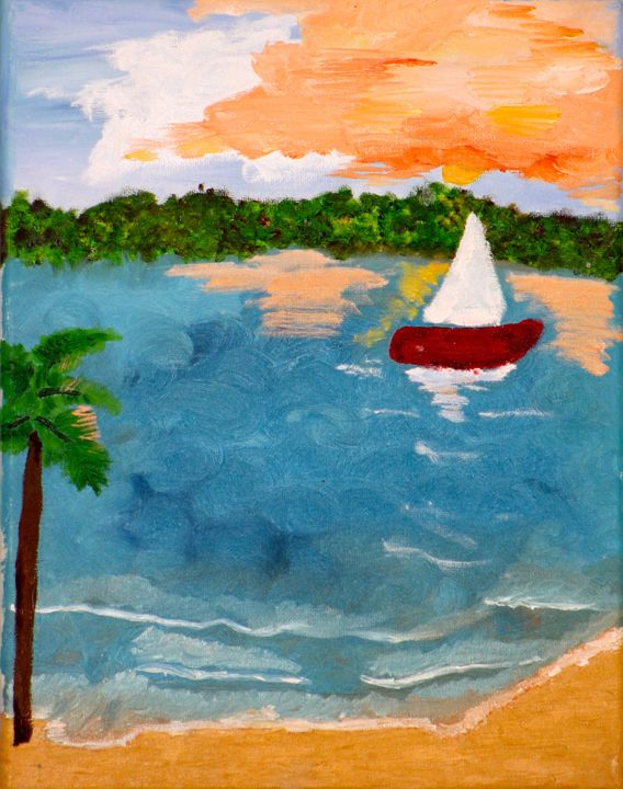 Even the Sun Sets in Paradise - Paintings by Liz