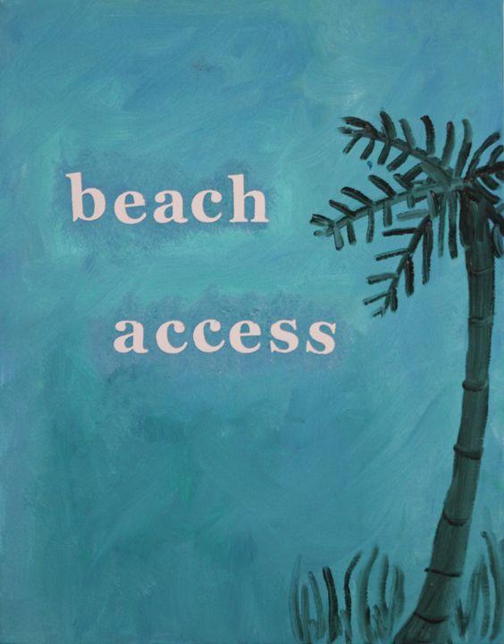 Beach Access - Paintings by Liz