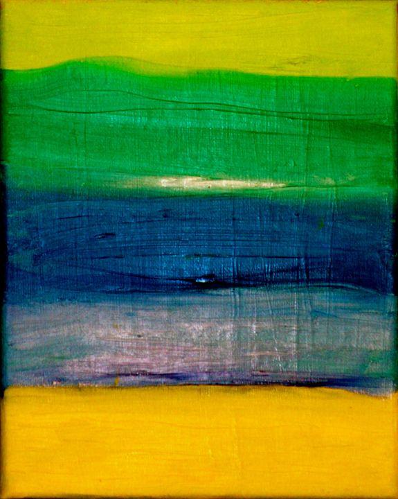 Read Between the Lines Metallic - Paintings by Liz