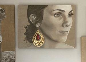 Girl with Earring - Simone Scholes Art