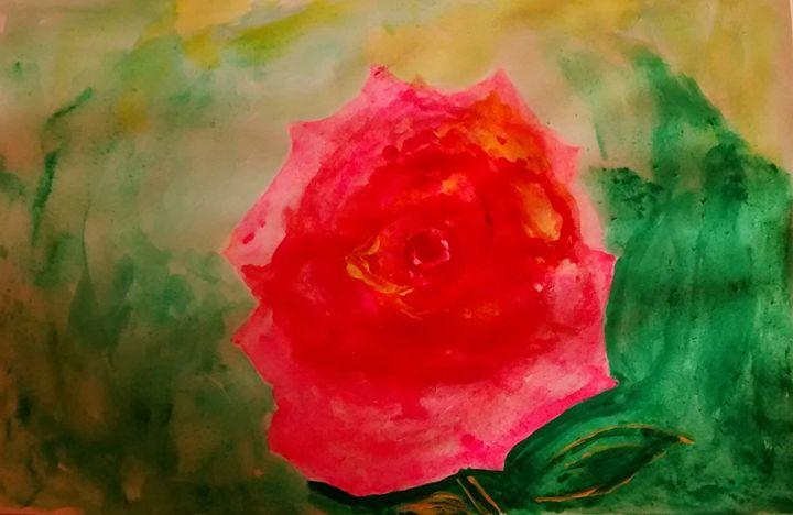 Watercolor Flower - Drawings Paintings Modern Art