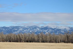 Bridger Mountains from River Road