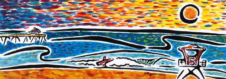 Sunset by the Pier - Kurt Champe