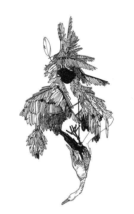 A woman with a Goose - Morta Griskeviciute