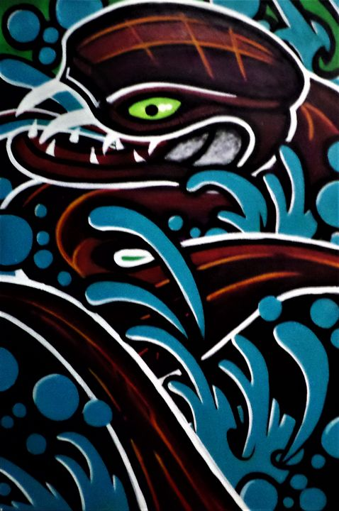 Art print POSTER CANVAS A Sea Snake Swims