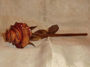 Rose Sculptural Art Wood Carving