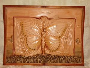 Landscape with butterflies Carving
