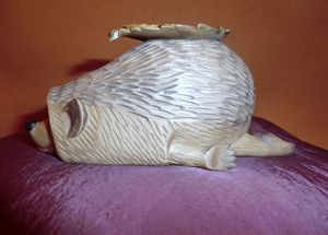 Hedgehog Sculptural Art WoodCarving