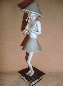 Figurine Sculptural Art Wood Carving