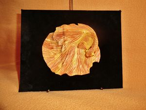 Print of wood The art of carving