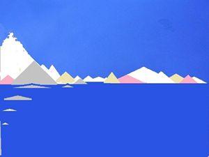 cold sky blue