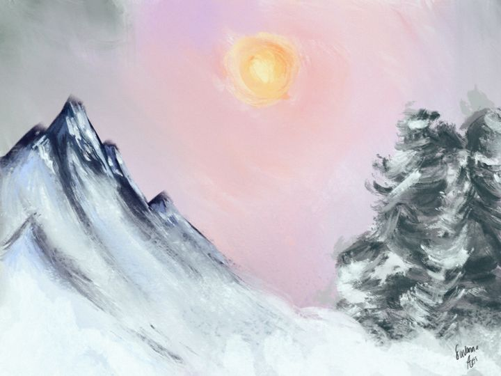 Sunny snow day - SavannaArt