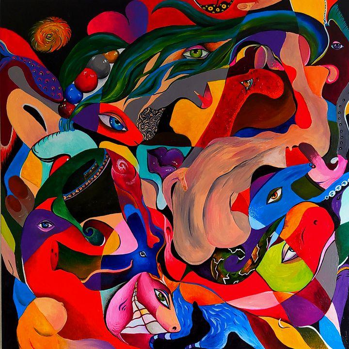 Abstract Art. Canvas. Acrylic. - Kristina Degtyareva