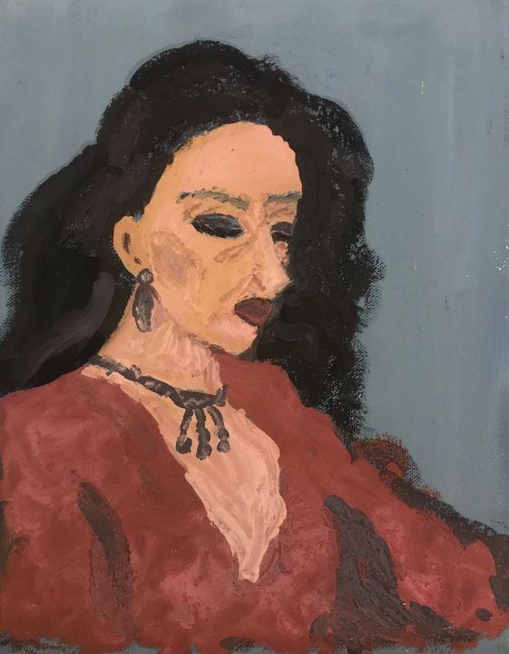 Woman in pink - Lucrezia Caroli painter