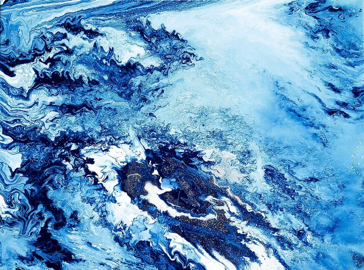 "Fluid Art ""The Blue"" - Alexa G."