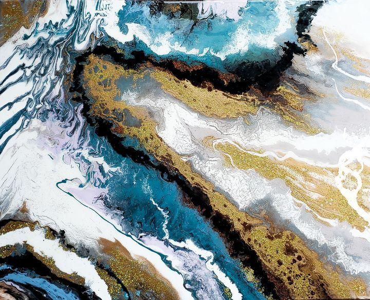 "Fluid art ""Earth"" - Alexa G."