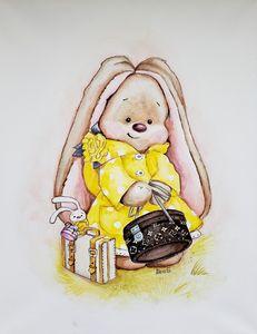 Cute Bunny with Louis Vuitton bag.