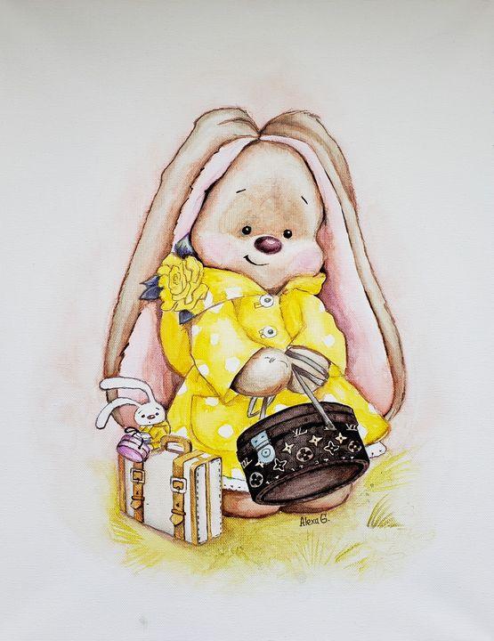 Cute Bunny with Louis Vuitton bag. - Alexa G.