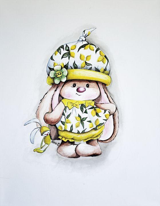 """""""Cute Bunny wearing Dolce&Gabbana"""" - Alexa G."""