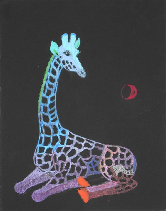Dreaming Giraffe - Tatiana's paintings