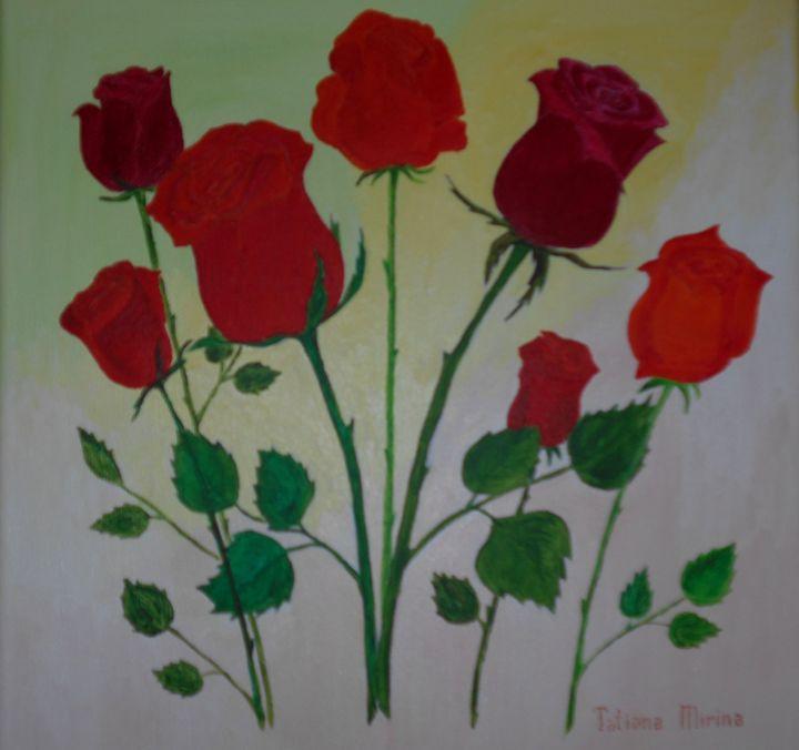 Red Roses - Tatiana's paintings