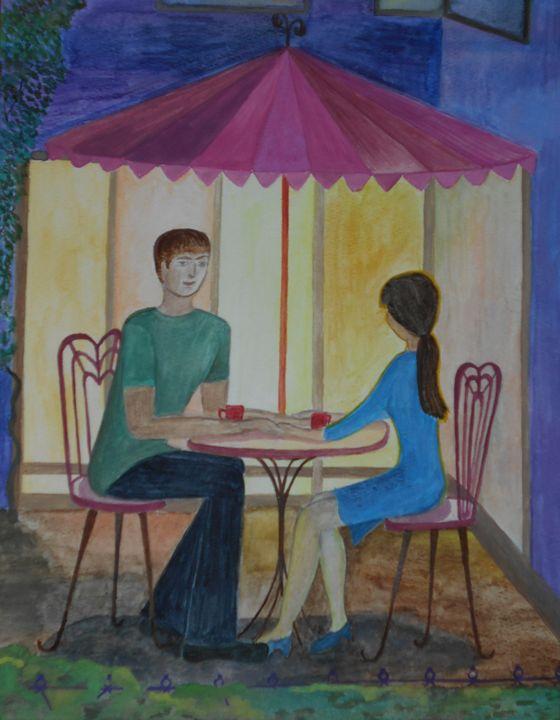 Cafe Date - Tatiana's paintings