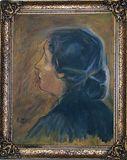 girl oil painting portrait