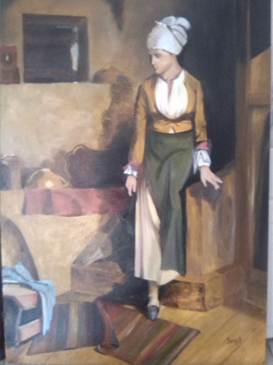 traditional lady on the stairs - vangel