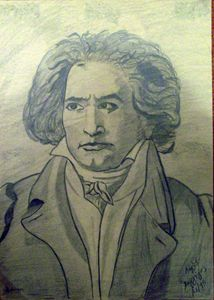 pencil mozart portrait