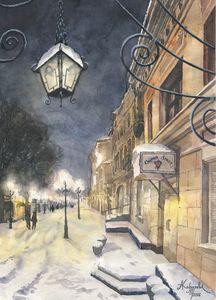 Winter Arbat`s Dream