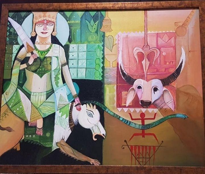 GODDESS MAHISHASURA MARDINI - Pallavi More's Creativity