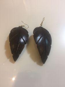 2 & Handmade wood earrings