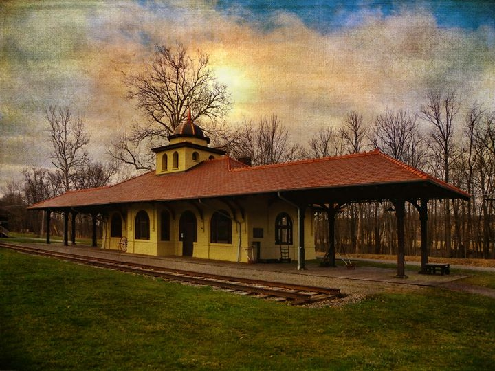 Napanoch NY Railway Station - Pine Singer Photographic Art