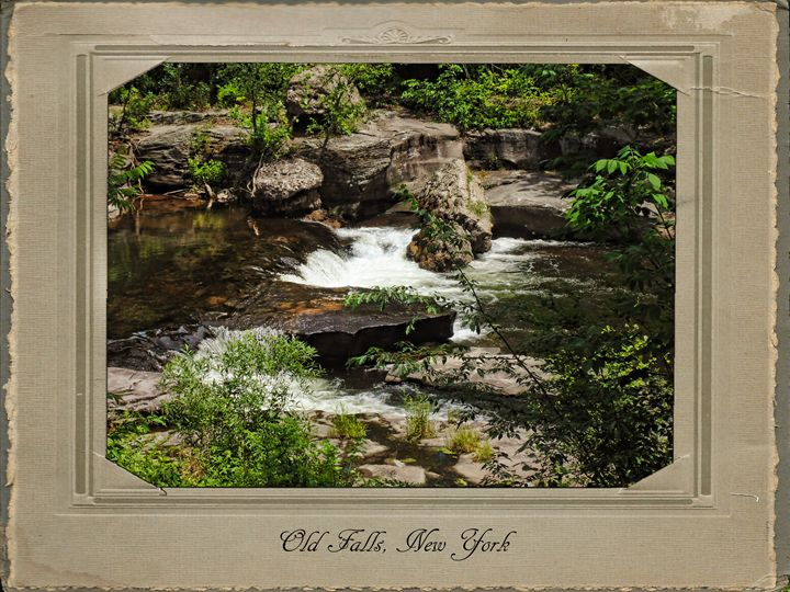 Old Falls Between the Trees - Pine Singer Photographic Art